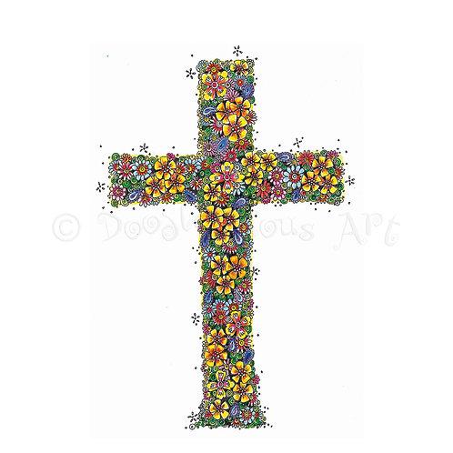 Easter floral cross [217]