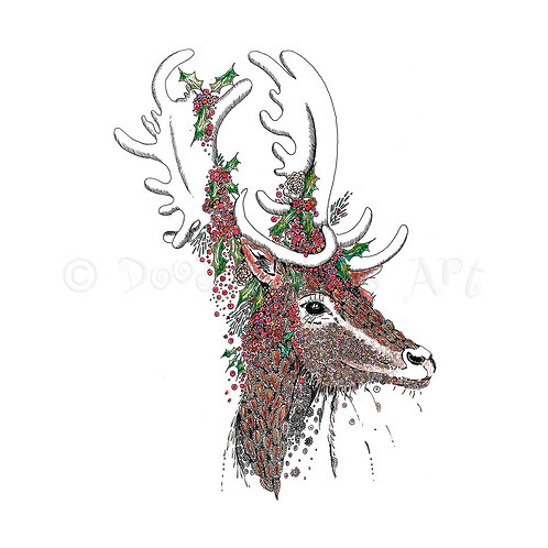 6 x Festive Stag [065]