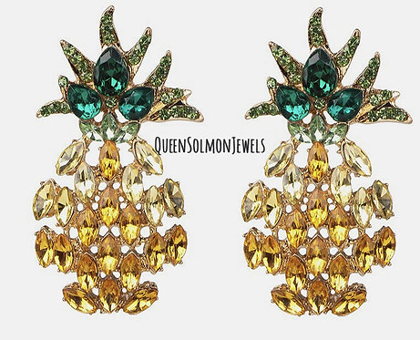 Queen Crown Pine apple Earrings