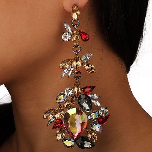 Brasil Crusted Gem Carnival earrings