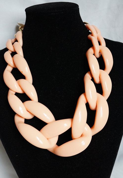 Peach Huge Link Necklace