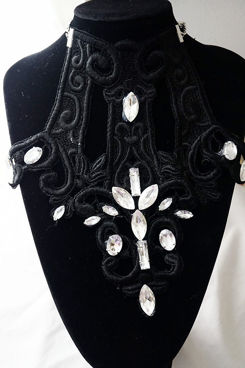 BLack & Diamond Classic Necklace