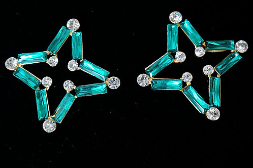 Aqua Star Gam Earrings