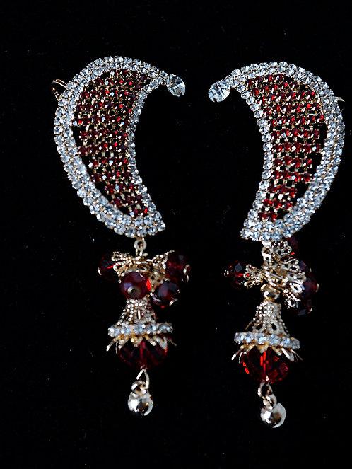 Ruby & Gold Indi Drop Earrings