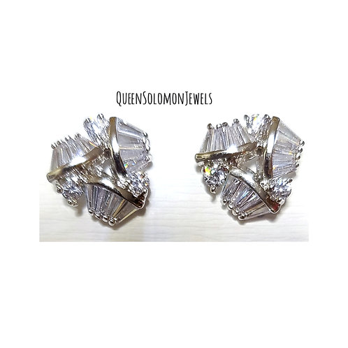 Diamond Try Studd Earrings