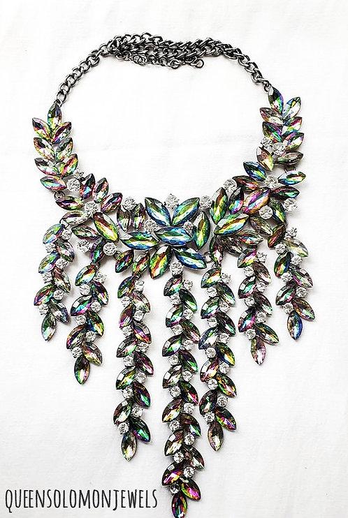 Rain Fall Diamond Crystal Necklace