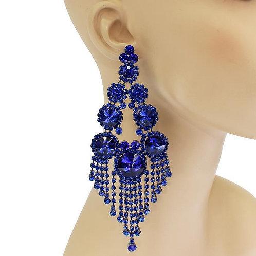Royal Gem Drop Chandy Earrings