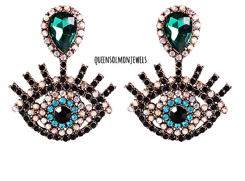 Emerald Eyes On Me Earrings