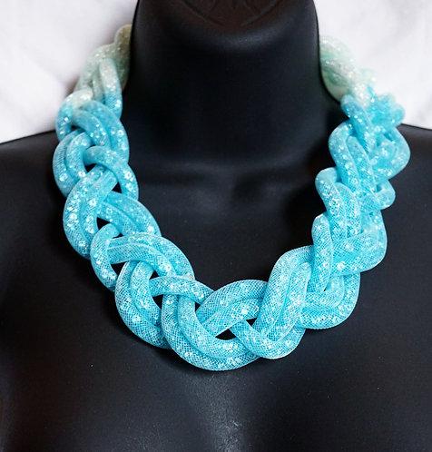 Blue & White Braided Chain