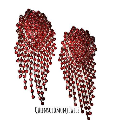 Red Ruby Love Stone Earrings