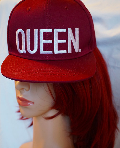 New Off Red Lit Burgandy Queen Snap Back Hats