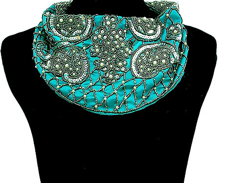 SeaBlue Sequin Necklace