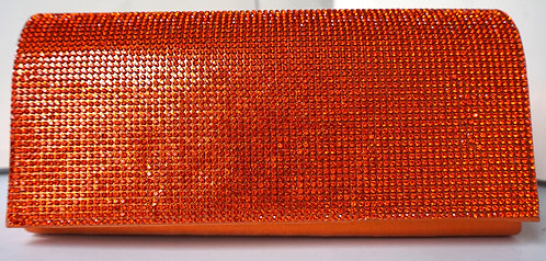 Cali Orange Crystal Clutch