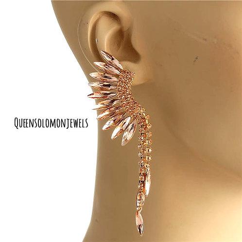 Peach Fuzz Drips Earrings