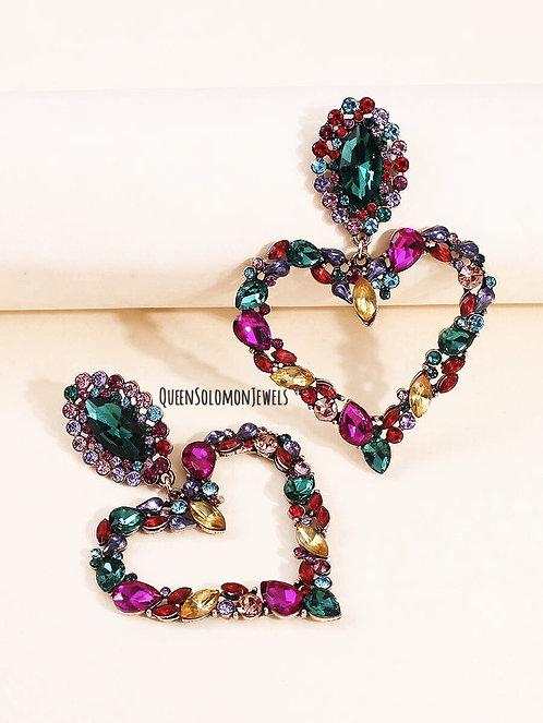 Crystal Heart Crush Earrings