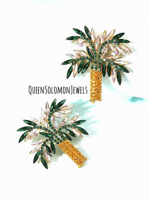 GeorgeTown Palm Tree Earrings