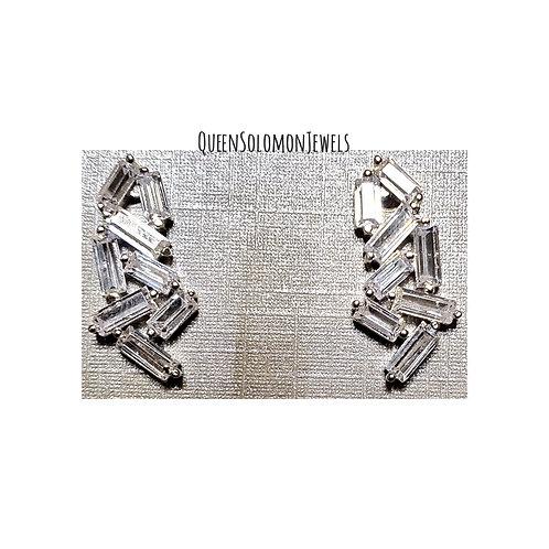 Diamond Bridge Studd Earrings