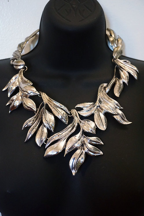 Silver Greek Leaf Plated Necklace