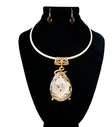 Gold Large Diamond Necklace
