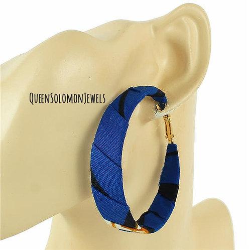 Blue Surname Earrings