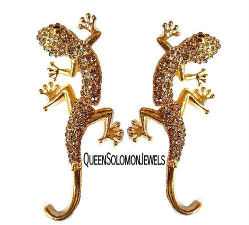 Gold Gieco Drops Earrings
