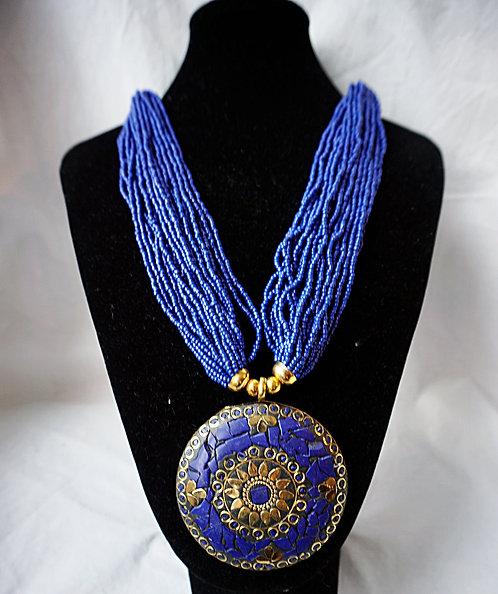 Blue Bongle Necklace