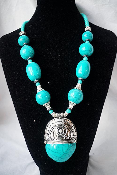 Jade & Silver Moroc Necklace
