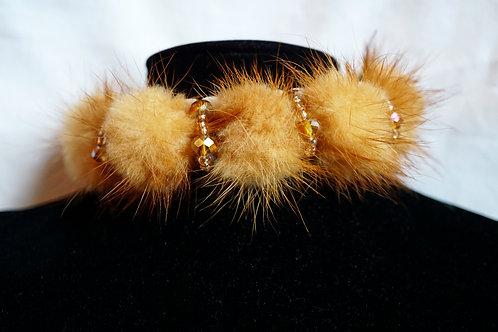 Fur & Crystal Mink Choker