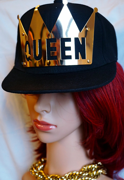 Gold Queen Plate Snap Backs