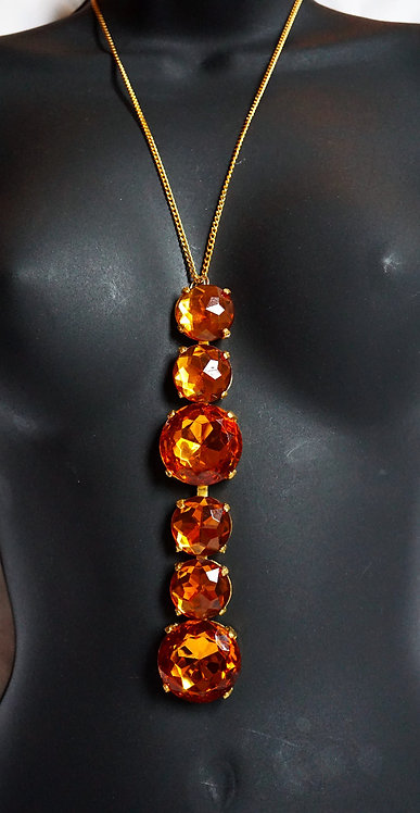 Gold Drop Rock Thin Gold Necklace