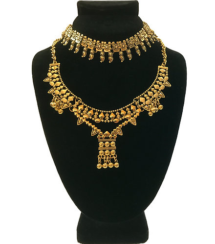 Indi Love Layer Gold 2 Piece Necklace