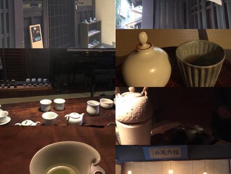 地下室の茶会へ。