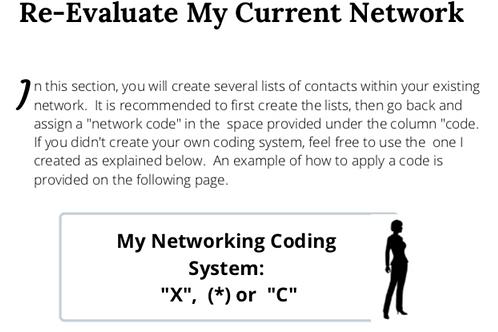 Re-Evaluate My Network Work Sheet ( Social Media)