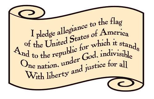 I PLEDGE ALLEGIANCE TO THE FLAG 24 X 12