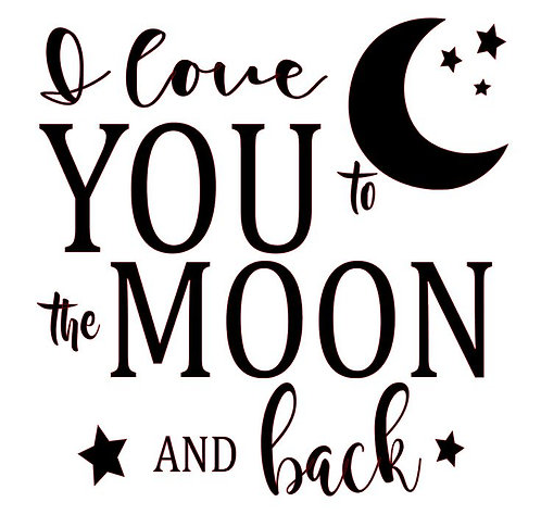 I LOVE YOU TO THE MOON AND BACK 12X12 AT HOME KIT