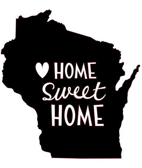 HOME SWEET HOME WI 12 X 12