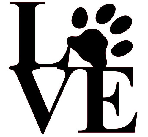 LOVE WITH PAW PRINT AT HOME KIT