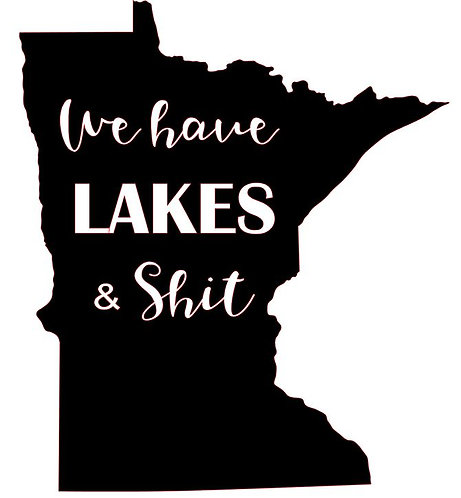 MINNESOTA WE HAVE LAKES AND SHIT 12X12