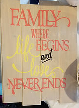 DIY Pallet Signs Family