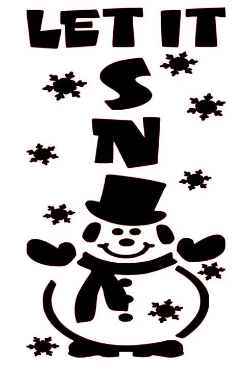 LET IT SNOW WITH A SNOWMAN   12 X 12