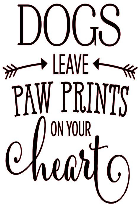 DOGS LEAVE PAW PRINTS ON YOUR HEART 12 X 18 AT HOME KIT