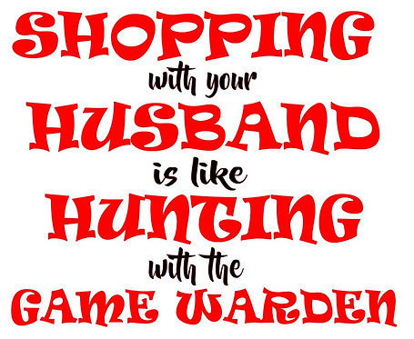SHOPPING WITH YOUR HUSBAND 12X14