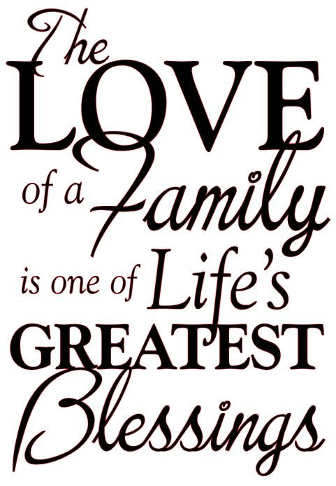 THE LOVE OF A FAMILY IS ONE OF LIFE'S GREATEST BLESSINGS 12 X 16