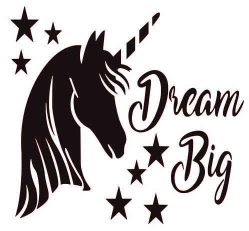 DREAM BIG WITH A UNICORN 12 X 12