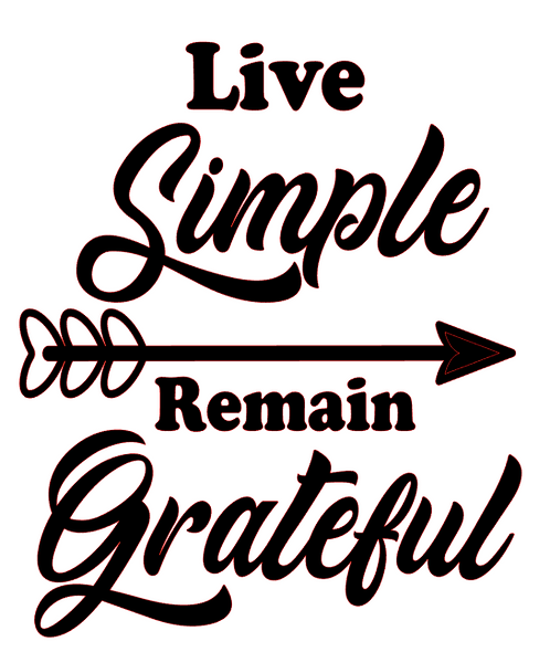 LIVE SIMPLE REMAIN GRATEFUL 12X12 AT HOME KIT