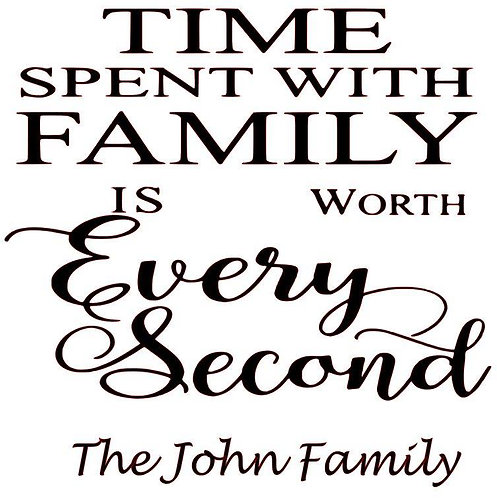 SAYING - TIME SPENT WITH FAMILY IS WORTH EVERY SECOND