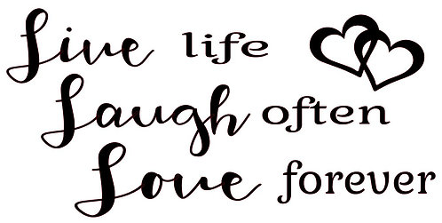 LIVE LIFE LAUGH OFTEN LOVE FOREVER 12 X 18