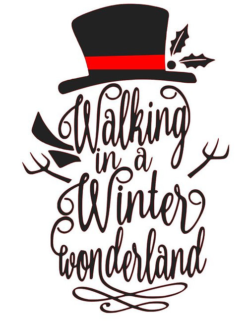 WALKING IN A WINTER WONDERLAND 12 X 16