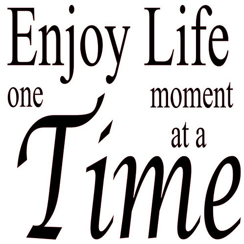 SAYING -ENJOY LIFE ONE MOMENT T A TIME