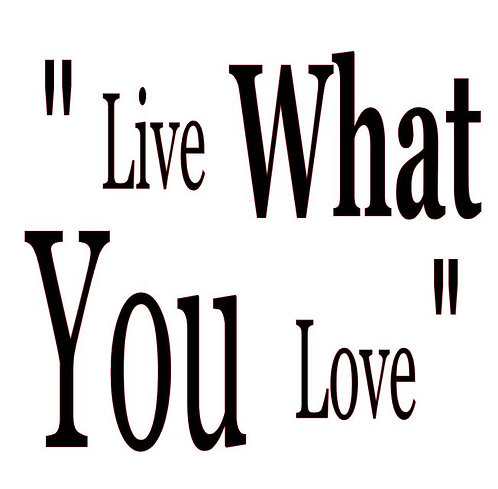 LIVE WHAT YOU LOVE  12X12 AT HOME KIT